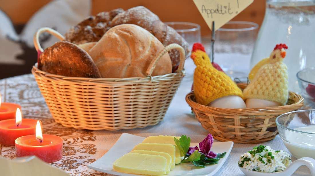 Bauernhof-Frühstück