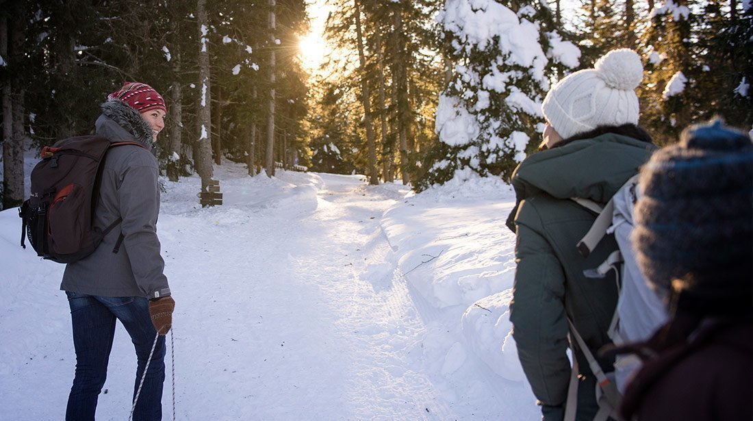 Schneeschuhwanderungen und Rodelvergnügen - Wunderbarer Winterurlaub im Villnösstal