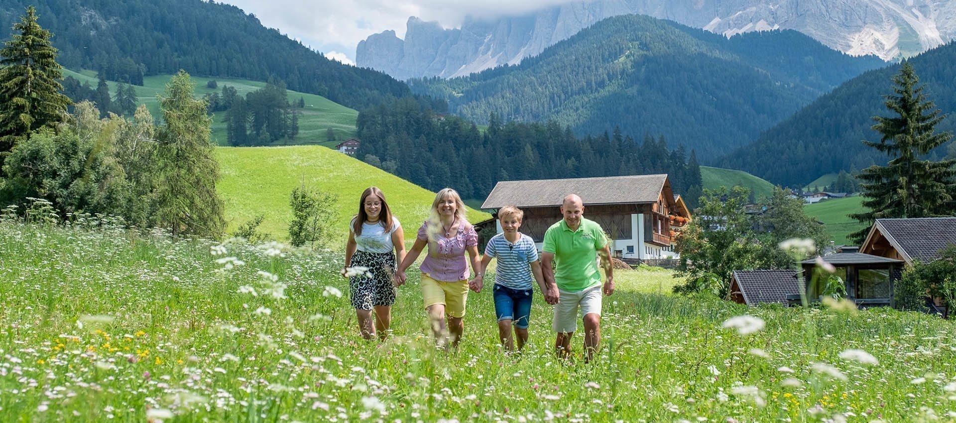 Urlaub auf dem Bauernhof in Villnöss Südtirol